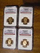 2007 S 1st-4th Presidential Dollar 4 Coin Proof Set Ultra Cameo Ngc Pf69