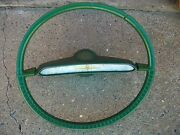 1960 Plymouth Green Steering Wheel Vintage One Year Only Rare