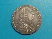 1787 Great Britain , King George Iii Antique Silver Coin...146db...choice Xf