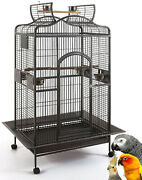 63 X-large Open Dome Play Top Bird Parrot Cage Macaw Conure Cockatiel