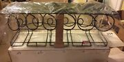 Wrought Iron Wine Bottle And Glasses Wall Mounted Hanging Organizer Rack 27x9x10