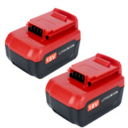 Lasica 2 Pack 18v 4.0ah Replacement Battery For Porter Cable Pc18b Pc18bl Tools