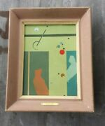 """Rare 1951 Midcentury Lee Atkyns Oil Painting """"study In Motion"""" – Signed, Framed"""