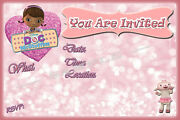 Doc Mcstuffins Party Invitations With Matching Envelopes Birthday 12pack