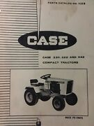 Case 200 400 Early Series Compact Lawn Garden Tractor Parts Manual 220 222 442
