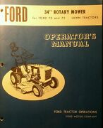 Ford 70 75 Lawn Tractor Mower Snow Plow Thrower Pto, Owner Parts 4 Manual S
