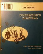 Ford 70 75 Lawn Tractor, Plow, Snow Thrower And Pto, Owner And Parts 4 Manual S