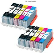 10 Blackandcolor Ink Toner For Canon Pixma Mg6820 All-in-one Cannon Inkjet Printer
