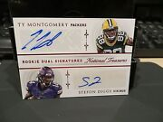 National Treasures Dual Autograph Vikings Stefon Diggs Ty Montgomery 04/25 2015