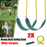 2x Outdoor Heavy Duty Swing Seat Kit Replacement Set Kids Play Gyms With Chains