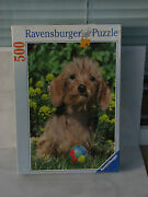 Ravensburger Puzzle 500 Dog Ball Puppy Made In Germany 2007 Unused Rare Soccer