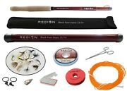 Tenkara Fly Rod - Black Foot Zoom 13and039/14and039 W/starter Kit - Japanese Carbon Fiber