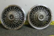 Set Of 2 Oem Gm 14 Wire W Dycrest Center Hub Caps Wheel Covers 256038 1151
