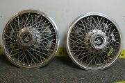 Set Of 2 Oem Gm 14 Wire W Dycrest Center Hub Caps Wheel Covers 256038 1150