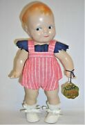 Antique Scootles Rosie Oand039neill Cameo Doll Compo All Orig. W/tag 1925