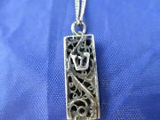 Vintage Sterling Silver Mezzuzah Pendent With A 20 Inch Chain