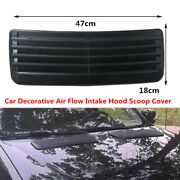 47x18cm Car Decorative Outlet Vents Air Flow Intake Hood Scoop Cover Abs Plastic