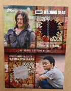 2017 The Walking Dead Season 7 Dual Relics Blood Drds Daryl And Sasha 1/1