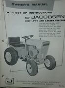 Jacobsen Chief Garden Tractor And 36 Snow Thrower Owners 2 Manual S Ford 120