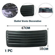 18.5'' X 7.09'' Vehicle Outlet Vents Decorative Cover Air Flow Intake Hood Roof
