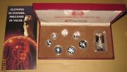 1999 Singapore Attractions Proof Silver Coins Set 5 1c With Coa And Box Key