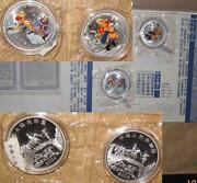 2004 China Prcpilgrimage To The West 2 10 Proof Color Silver Coins Set