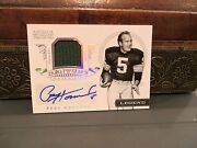 National Treasures Century Materials Autograph Packers Paul Hornung 09/25 2012