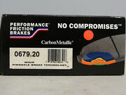 Performance Friction 0679.20 Carbon Metallic Brake Pad Set, Front New In Box