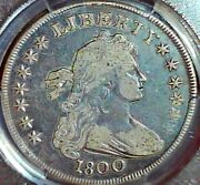 1800 1 Draped Bust Dollar Pcgs Vf 20 No Problems Coin