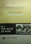Massey Ferguson Mf 7 Lawn Tractor Owner, Pre-deliv And Snow-throw 3 Manuals 76pg