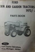 Ford Lgt 100 120 125 145 Lawn Garden Tractor Parts Manual Jacobsen 1972-1977