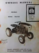 Sears David Bradley Suburban Riding Tractor And Implements Owner And Parts5 Manuals