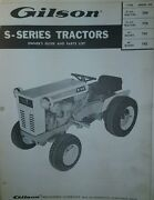 Gilson Ward Lawn Garden Tractor And Implements Owner And Parts 2 Manual S Squire