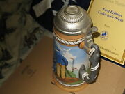 Norman Rockwell Beer Stein Looking Out To Sea 1981 1st Edition