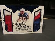 Panini Flawless On Card Autograph Worn Jersey Patriots Curtis Martin 5/5 2016