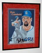 Ken Caminiti San Diego Padres Martin Woods Original Art Matted And Framed Painting