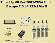 2001-2004 Ford Escape L4 Tune Up Kit Spark Plug Wire Set, Air, Fuel Filter Pcv
