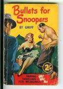 Bullets For Snoopers By Griff, British Modern Fiction Crime Gga Pulp Vintage Pb