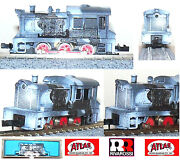 Atlas 4069 By Rivarossi Locomotive Davenport Painted Wehrmacht Wwi Ovp Ladder-n
