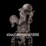 47 Cm China Zodiac Animal Bronze Cock Rooster Chanticleer Wealth Fengshui Statue