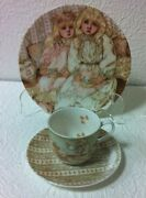 Lenox Young Lady's 3pc Tea Set Cup And Saucer And One Cookie Plate Brand New
