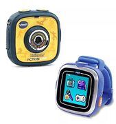 New Yellow/blue Vtech Kidizoom Action Cam W/ Smartwatch Watch In Unopened Box