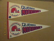 Nhl Wha Quebec Nordiques Vintage Defunct Lot Of 2 Hockey Pennants