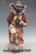 19 Chinese Myths Porcelain And Pottery Sun Wukong Handsome Monkey King Statue
