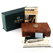 Montegrappa Two Roses Lancaster 925 Sterling Silver Fountain Pen - Rare