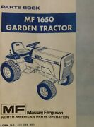 Massey Ferguson Mf 1650 Riding Lawn Garden Tractor And Mower Parts Manual Snapper