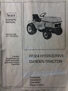 Sears Ff/24 Garden Tractor And Implements Owner Parts And Service Manual 9 Manuals