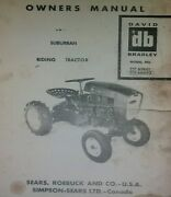 Sears Suburban David Bradley Garden Tractor And Implements Owner Parts 5 Manuals