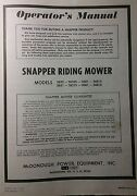 Snapper 1974 Riding Lawn Mower Tractor Owner And Parts Manual 2652 2681 3081s
