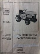 Sears Ff 24 18 Garden Tractor And Snow Thrower Implement Owner And Parts 2 Manual S